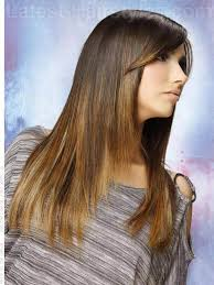 a long and straight haircut with swept bangs