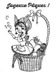 Coloriage Club Des Parents Paques Panier Dessin Basket Panneau