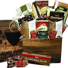 coffee care package snacks and treats gift box set with mug