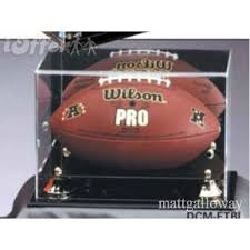 Football Stands Display FOOTBALL DISPLAY CASE MIRROR NFL BALL STAND COLLECTIBLE 52