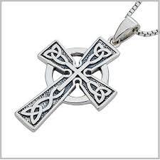 sterling silver celtic cross men s celtic cross necklace celtic cross