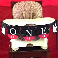 mickey mouse high chair hot mickey mouse highchair banner first birthday party decoration birthday flag