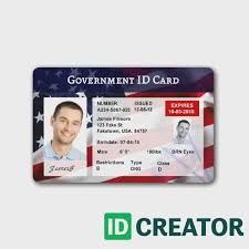 id cards templates 1 brilliant front of id card usa