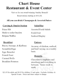 Chart House Easter Brunch Menu Menu For Chart House In Lakeville Minnesota Usa