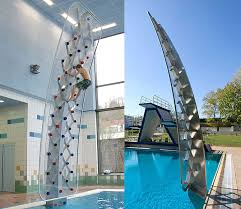 aquaclimb sport poolside climbing wall