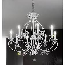 kolarz carat crystal chandelier white