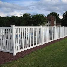 vinyl picket fence front yard. Flat Top Vinyl Fence Picket Front Yard N