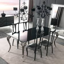 black glass dining table large lacquered set round stowaway 4 chairs