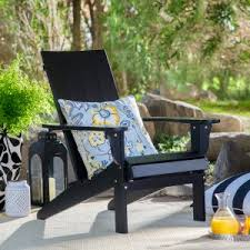 belham living portside modern adirondack chair black black adirondack chairs98