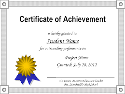 Letter Sample Personal Template Printable Certificate Of Achievement