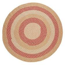 milan natural 4 ft x 4 ft round indoor outdoor braided area rug