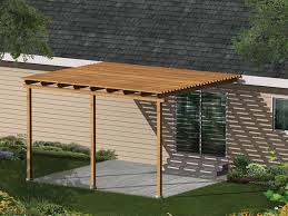 Patio cover plans Free Standing This Simple Patio Cover Promises Less Sun Exposure And Easy Installation House Plans And More Kelsey Patio Cover Plan 002d3015 House Plans And More