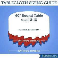 what size tablecloth for 5ft round table round tablecloth sizes the best round tablecloths ideas on