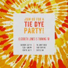Groovy Tie Dye Invitations In Orange Greenvelope Com
