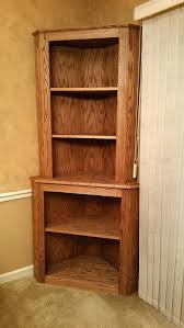 Oak Corner Shelving Bookcase Chic Oak Corner Hutch Cabinet Curio Bookcase Shelf 90