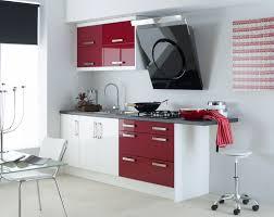 Cocina Moderna Blanco Rojo