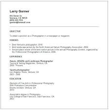 Photographer Resume Objective Photography Resume Template Word Collaborativenation 15