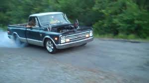 LS1 Burnout 1968 chevy truck C/10 - YouTube