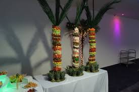 Pineapple Tree Centerpiece With Fruit Monkeys  Monkey Pineapple Fresh Fruit Tree Display