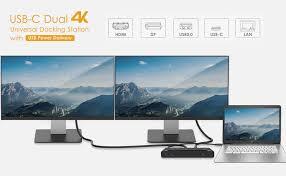 WAVLINK USB C <b>Dual 4K</b> Docking Station with 60W Power <b>Delivery</b> ...