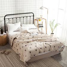 100 cotton bedspreads. Interesting Cotton Deer Print 100 Cotton Bedspread CoverletBed Cover Also Summer Blanket  200230150200cm With Filling Twin Bedspreads And Quilts King Size  100