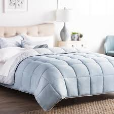 brookside striped reversible calm sea king chambray comforter set