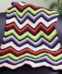 Ripple Afghan Patterns Best Crochet Rainbow Ripple Afghan Red Heart