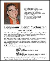 Benni Schuster Todesanzeige Vn Todesanzeigen