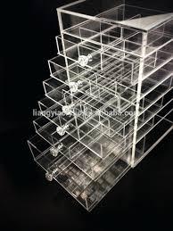 storage bins clear acrylic storage bo makeup organizer large drawer modular tray conners uk bead