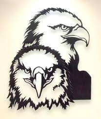 hanging series metal animal wall art lower eagle adding dramatic dimension natural mild steel finished decor eagle wall decor