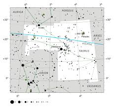 Star Chart Of The Constellation Taurus With Aldebaran And