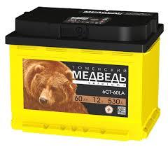 Аккумулятор автомобильный <b>Тюменский Медведь</b> 6СТ-60 обр ...