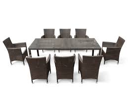 dining sets for 8. wicker patio dining set for 8 - italy_239 sets