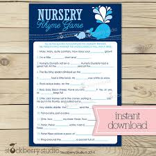 31 Free Printable Baby Shower Games Your Guests Will Absolutely LoveBaby Shower Games Nursery Rhymes