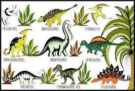 Dinosaur Name Chart Dino Raw