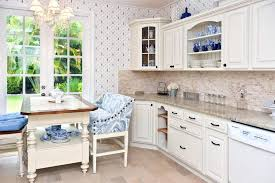 white country kitchen cabinets. Unique Kitchen Country Kitchen With Breakfast Nook White Cabinets Appliances Cambridge  Granite And Intended White Kitchen Cabinets N