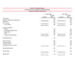 Formate Of Income Statement Comparative Income Statement Template