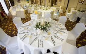 medium size of ideas fascinating wedding table setting round wedding table white polyester tablecloth flatware