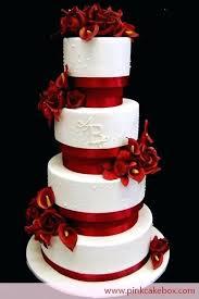 Black And White Wedding Cakes With Red Roses Kostina Olgacom