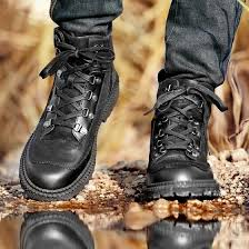 New high-top tooling shoes leather outdoor casual shoes <b>British</b> ...