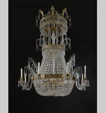 antique baccarat crystal chandelier an austrian cut glass mounted ormolu eight light chandelier vienna