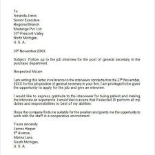 Amazing Follow Up Letter After Interview Samples Letter Format