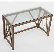 glass top office desks.  glass modern chic industrial home office desk glass top new with desks t