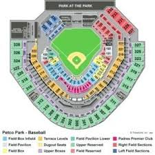 Padres Seating Chart Petco Park Seating Chart With Row Numbers Padres Seating