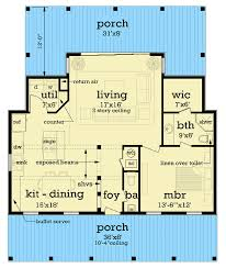 Find small 1 bedroom country cottages, tiny 1br cottage guest homes & more! 1 Story Cottage House Plan With Open Living Space 55212br Architectural Designs House Plans