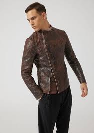 emporio armani leather jacket man f