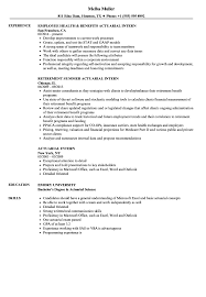 Sample Actuarial Resume Actuarial Intern Resume Samples Velvet Jobs 2