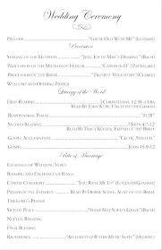 Wedding Church Booklet Template Wedding Ceremony Program Templates