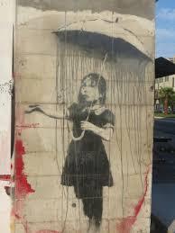 banksy s girl with umbrella photo by emily ramirez hernandez