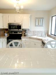 Diy Tile Kitchen Countertops Livelovediy How To Paint Tile Countertops